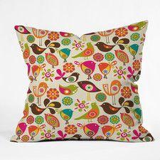 Decorative Pillows - Color: Orange-Pink, Type: Throw Pillow | AllModern
