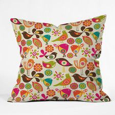 Decorative Pillows - Color: Orange-Pink, Type: Throw Pillow | AllModern