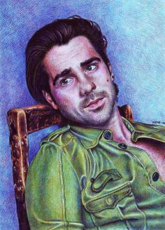 Colin Farrell by naimos-dz {from Algeria} ~ ink / mixed media