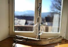 Tischlampen - Lampe, Tischlampe aus Trebholz, Holzlampe  - ein Designerstück von Hajohinta bei DaWanda
