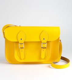 Yellow Cambridge Satchel. I like the whole collection, but just adore this colour.