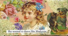 This Madonna themed piece is new to my shop -- Victorian  Child Collage Art Whimsical Vintage Style by rhodyart,