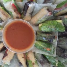 Vegetable Cold Rolls - Vegan Vegetarian Catering Platter - Salt & Chilli Mobile Catering