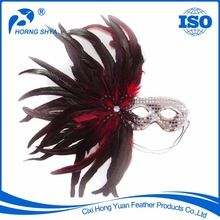 Rooster Feather Mask, Rooster Feather Mask direct from Cixi Hong Yuan Feather Products Co., Ltd. in China (Mainland)