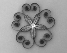 Quilling template for 5 pointed stars, snowflakes and flowers, instant download, Grid guide, PDF
