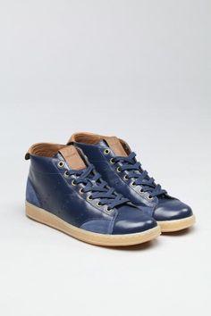 adidas sneaker - leather, blue, brown, gum - frickin beautifoo