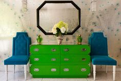 justinetaylor:Design by Lara Spencer, Photograph by Michael McNamara for Redbook  Feeling Green