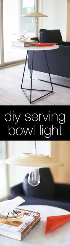 DIY this light using an IKEA serving bowl ... IKEA hack baby!