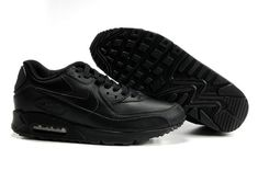 outlet store d9832 d84c3 302519 001 Nike Air Max 90 Leather Black AMFM0664 Nike Air Max Running, Nike  Max