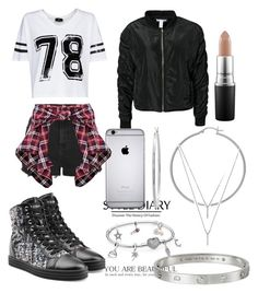 """""""Untitled #296"""" by dgfancy ❤ liked on Polyvore featuring Topshop, MANGO, NLY Trend, Sterling Essentials, BCBGeneration, MAC Cosmetics and Hogan Rebel"""