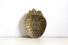 Vintage Brass Tray Ashtray Strawberry by CakeNumber9 on Etsy, $18.00