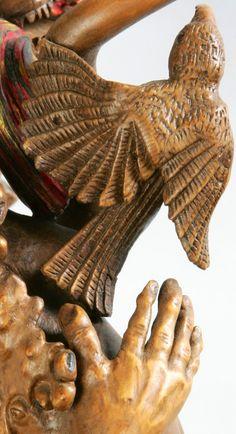 """Détail du Bâton de la """"Tarasque""""....Sculpture de Pierre Damiean. Voir le Site: www.pierdam.fr"""