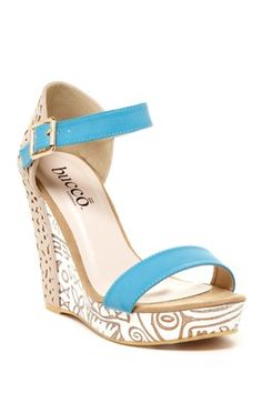 Love the color; Bethes Cutout Platform Wedge on HauteLook