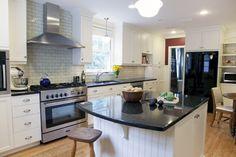 Captivating Granite Uba Tuba Blends With Kitchen Cabinet Designs: Subway Tile Backsplash With Granite Uba Tuba And White Kitchen Cabinet Also Kitchen Cabinet Hardware And Kitchen Island With Barstool