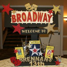 12 Things You Need To Know About Broadway Themed for Broadway Themed Party Decorations - Party Decor Broadway Party, Movie Party, Broadway Shows, New York Party, New York Theme, 13th Birthday Parties, 14th Birthday, Birthday Ideas, Hollywood Party