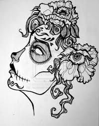Image result for art drawing ideas  candy skulls colour pre drawn