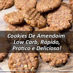 Anota aí  Cookies De Amendoim Low Carb, Rápido, Prático e Delicioso! Ingredientes: • 1 xícara (chá) de farinha de amendoim; • Amendoins pica... - Glauco Maia - Google+