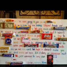 Image result for candy birthday card birthday gift ideas candy birthday card the kids made for mark on his birthday it brought big smiles bookmarktalkfo Images