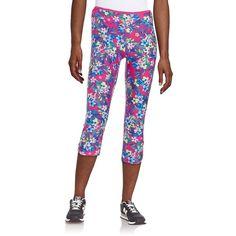 Kensie Floral Athletic Pants ($25) ❤ liked on Polyvore featuring activewear, activewear pants, berry, athletic sportswear and kensie