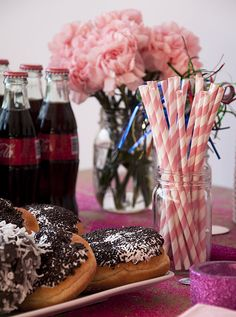 13th birthday party theme -candy, games, pink