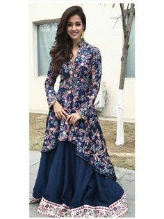 Buy Navy Bangalori Print Lehenga For only from Godomart Online Shopping Store India. Indian Dresses, Indian Outfits, Stylish Dresses, Fashion Dresses, Lehenga Collection, Disha Patani, India Fashion, Women's Fashion, Indian Models
