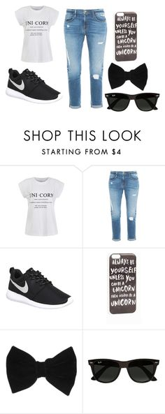 """""""unicorns"""" by horse-princess12 on Polyvore featuring Ally Fashion, Frame Denim, NIKE, JFR, claire's and Ray-Ban"""