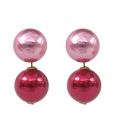 Red and Pink Candy Pearl Earrings from Candy Shop Vintage