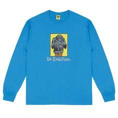 Iggy De-evolution Long Sleeve T-Shirt (Blue)