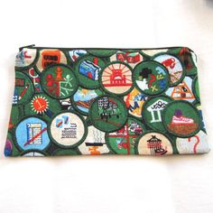 Be Prepared Girl Scout Badge Fabric Zipper Pouch / Pencil Case / Make Up Bag / Gadget Sack on Etsy, $12.00
