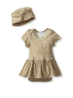 50% OFF or more Mad Sky Baby Skirted Romper with Hat (Cheetah Chic) #apparel #Kids