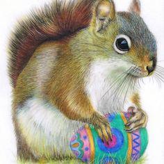 The Easter Nut -- Art by award winning artist Karen Hull