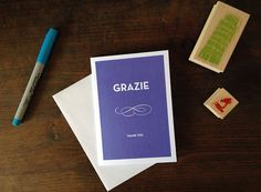 Grazie  Thank You Card by RanchandRodeo on Etsy