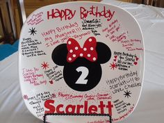 Minnie+mouse+birthday+plate+decal+by+BaberzCouture2012+on+Etsy,+$12.00