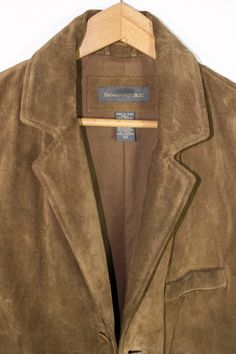 Banana Republic brown suede leather blazer jacket - mens coat size small 371bfc4c2c1