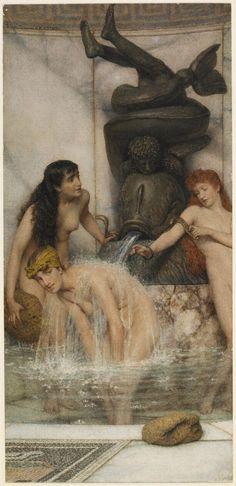 Strigils and Sponges by Lawrence Alma-Tadema, 1879