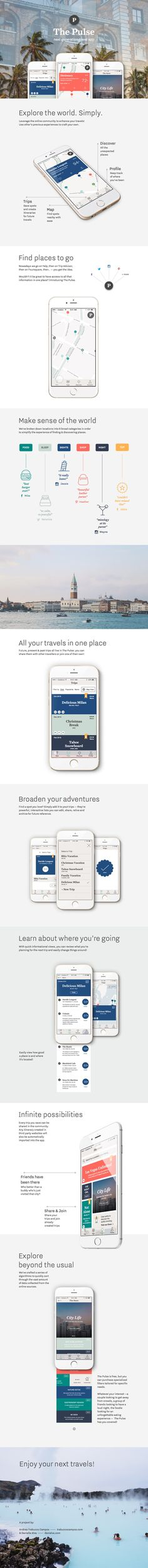 Extremely Helpful Apps You Should Have When Travelling The Pulse travel app by Andrea A. Ux Design, App Design Inspiration, Design Ideas, Mobile Ui Design, Ui Web, Application Design, Web Layout, Apps, User Interface Design