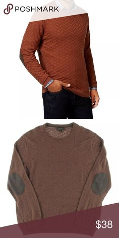 Tasso Elba - Brown L/S Copper Canyon Sweater L Manufacturer: Tasso Elba Size: L Size Origin: US Manufacturer Color: Copper Canyon Retail: $75.00 Condition: New with tags Style Type: Sweater Collection: Tasso Elba Sleeve Length: Long Sleeve Neckline: Crew Material: 100% Cotton Fabric Type: Cotton Specialty: Chevron Style Number: 63W05CHEVR Sku: BH2707569 ID#1300 Tasso Elba Sweaters Crewneck