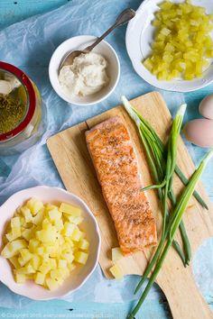 Litewska sałatka z łososiem i chrzanem