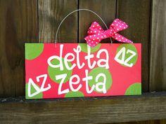 Delta Zeta Polka Dot Sign by yourethatgirldesigns on etsy