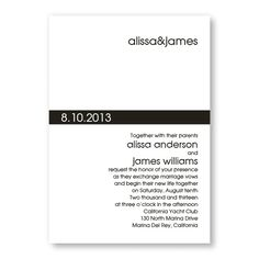 "Contemporary Band Wedding Invitations (DIY in Navy?) like the wording ""with their parents"""