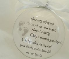 In Memory Memorial Ornament Baby Glass You Tiptoed into Our Life, Miscarriage, Remembrance, Celebration of Life Miscarriage Tattoo, Miscarriage Remembrance, Miscarriage Quotes, Miscarriage Awareness, Baby Ornaments, Glass Ornaments, Pregnancy And Infant Loss, Pregnancy Test, Pregnancy Stages