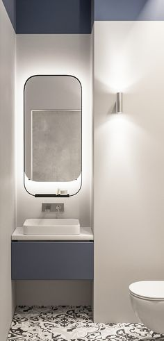 If you have a small bathroom in your home, don't be confuse to change to make it look larger. Not only small bathroom, but also the largest bathrooms have their problems and design flaws. Bathroom Wall Decor, Budget Bathroom, Bathroom Interior Design, Bathroom Renovations, Modern Bathroom, Home Remodeling, Bathroom Makeovers, Bathroom Trends, Bathroom Ideas