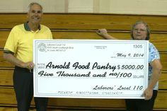 LIUNA Local 110 donates $5K to Arnold Food Pantry