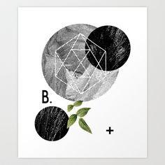 B-plus.+Art+Print+by+K+IS+FOR+BLACK+-+$19.00