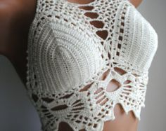 crochet bikini top. 100% cotton Pay attention to sized table before you choose the size. Recommendations for care: do not iron, delicate, or hand wash ready for shipment in 3-5 days I can be done in any color. just let me know in what! If you have any questions, Id be happy to answer them