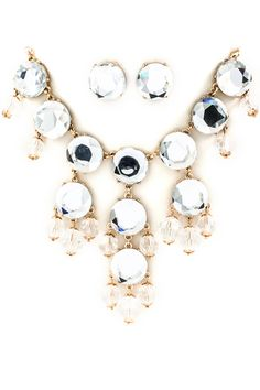 Shimmery Bubble Necklace Set