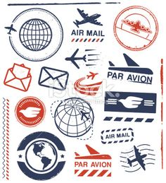 World Stamps stock illustrations & vector images - iStock