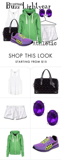 """""""Buzz Lightyear"""" by leslieakay ❤ liked on Polyvore featuring Victoria's Secret, Juicy Couture, Old Navy, Disney, Paige Denim, Puma, women's clothing, women's fashion, women and female"""