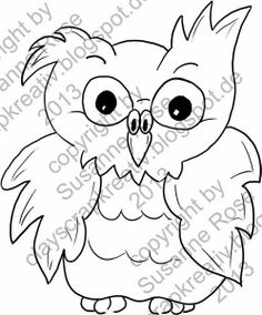 Eulen Digi Stamp - Freebie