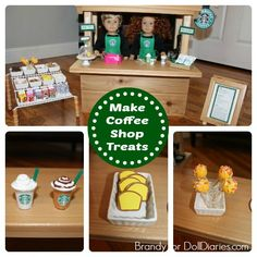 Make treats for a doll sized coffee shop